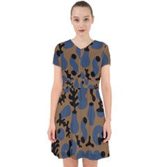 Superfiction Object Blue Black Brown Pattern Adorable In Chiffon Dress by Mariart