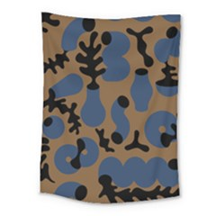 Superfiction Object Blue Black Brown Pattern Medium Tapestry by Mariart