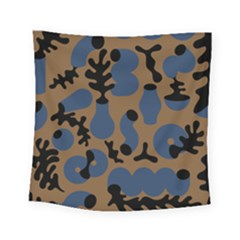 Superfiction Object Blue Black Brown Pattern Square Tapestry (small) by Mariart