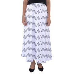 Tattoos Transparent Tumblr Overlays Wave Waves Black Chevron Flared Maxi Skirt