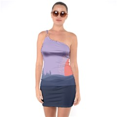 Wedding Lavender Moon Romantic Natural One Soulder Bodycon Dress