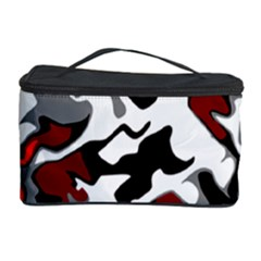 Vector Red Black White Camo Advance Cosmetic Storage Case by Mariart