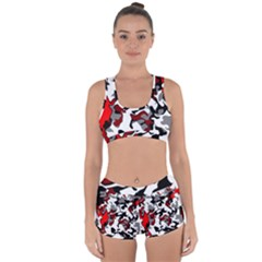 Vector Red Black White Camo Advance Racerback Boyleg Bikini Set by Mariart