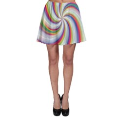 Prismatic Hole Rainbow Skater Skirt