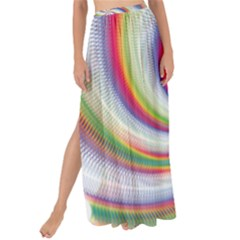 Prismatic Hole Rainbow Maxi Chiffon Tie Up Sarong