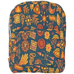 Tribal Ethnic Blue Gold Culture Full Print Backpack