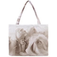 Vintage Rose Shabby Chic Background Mini Tote Bag