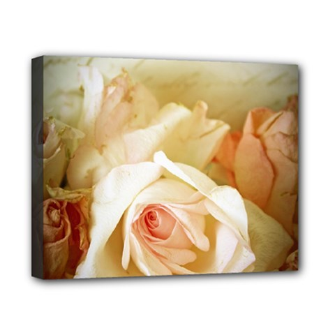 Roses Vintage Playful Romantic Canvas 10  X 8  by Celenk