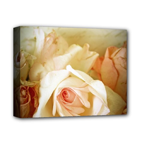 Roses Vintage Playful Romantic Deluxe Canvas 14  X 11  by Celenk