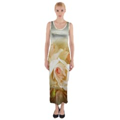 Roses Vintage Playful Romantic Fitted Maxi Dress by Celenk