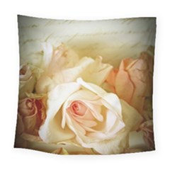 Roses Vintage Playful Romantic Square Tapestry (large)