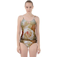 Roses Vintage Playful Romantic Cut Out Top Tankini Set