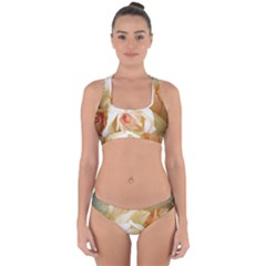Roses Vintage Playful Romantic Cross Back Hipster Bikini Set