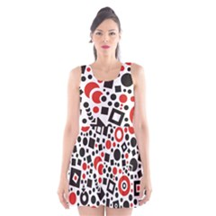 Square Objects Future Modern Scoop Neck Skater Dress