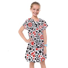 Square Objects Future Modern Kids  Drop Waist Dress