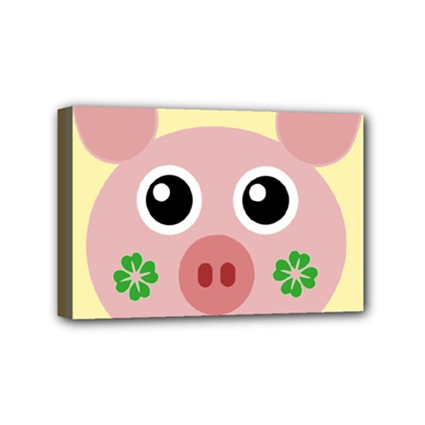 Luck Lucky Pig Pig Lucky Charm Mini Canvas 6  X 4  by Celenk