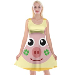 Luck Lucky Pig Pig Lucky Charm Reversible Velvet Sleeveless Dress by Celenk