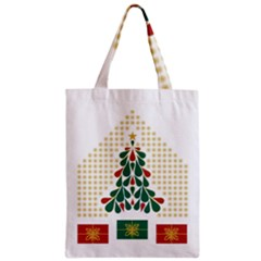 Christmas Tree Present House Star Zipper Classic Tote Bag by Celenk