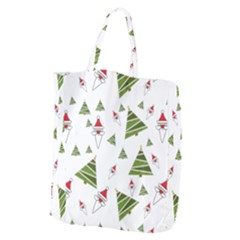 Christmas Santa Claus Decoration Giant Grocery Zipper Tote by Celenk