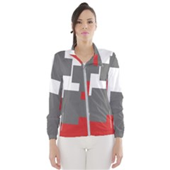 Cross Abstract Shape Line Wind Breaker (women)