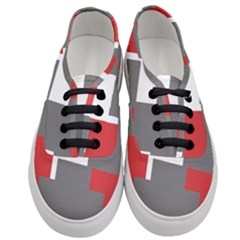 Cross Abstract Shape Line Women s Classic Low Top Sneakers
