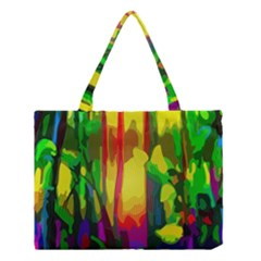Abstract Vibrant Colour Botany Medium Tote Bag by Celenk