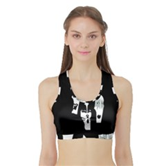 Kiss Band Logo Sports Bra With Border by Celenk