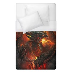 Dragon Legend Art Fire Digital Fantasy Duvet Cover (single Size) by Celenk