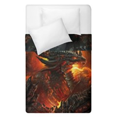 Dragon Legend Art Fire Digital Fantasy Duvet Cover Double Side (single Size)
