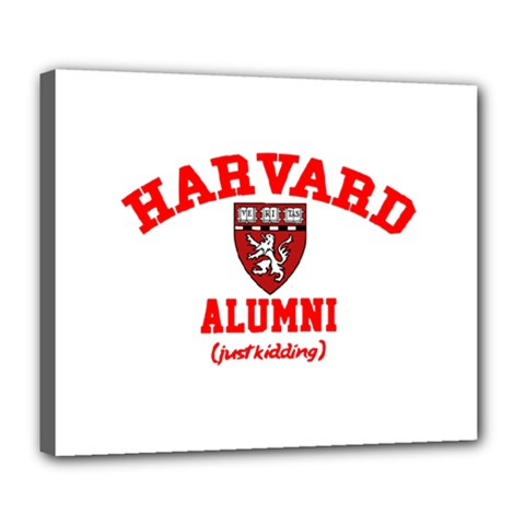 Harvard Alumni Just Kidding Deluxe Canvas 24  X 20