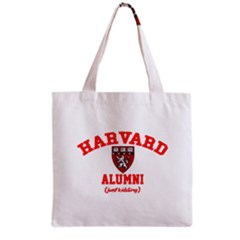 Harvard Alumni Just Kidding Grocery Tote Bag by Celenk