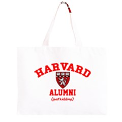 Harvard Alumni Just Kidding Zipper Large Tote Bag by Celenk