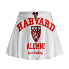 Harvard Alumni Just Kidding Mini Flare Skirt