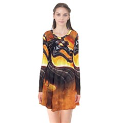 Dragon And Fire Flare Dress