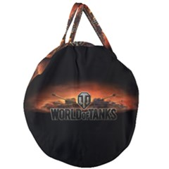 World Of Tanks Giant Round Zipper Tote by Celenk