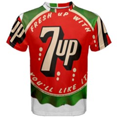 Fresh Up With  7 Up Bottle Cap Tin Metal Men s Cotton Tee