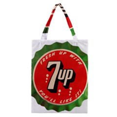 Fresh Up With  7 Up Bottle Cap Tin Metal Classic Tote Bag by Celenk