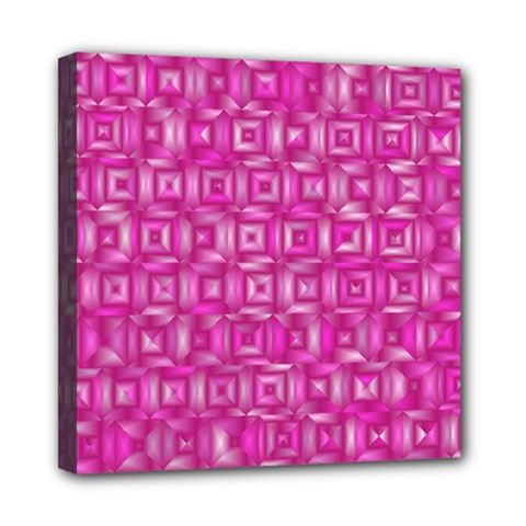 Classic Blocks,pink Mini Canvas 8  X 8  by MoreColorsinLife