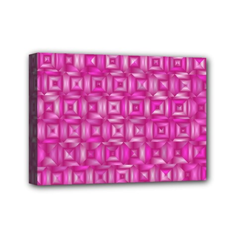 Classic Blocks,pink Mini Canvas 7  X 5  by MoreColorsinLife