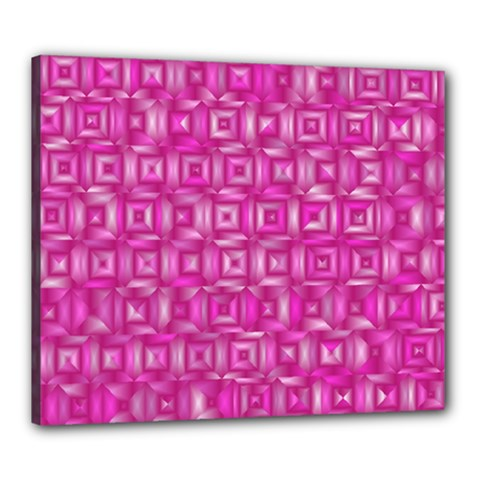 Classic Blocks,pink Canvas 24  X 20  by MoreColorsinLife