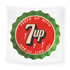 Fresh Up With  7 Up Bottle Cap Tin Metal Square Tapestry (large)