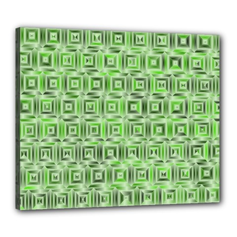 Classic Blocks,green Canvas 24  X 20  by MoreColorsinLife