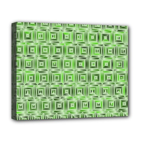 Classic Blocks,green Deluxe Canvas 20  X 16   by MoreColorsinLife