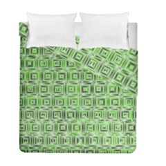 Classic Blocks,green Duvet Cover Double Side (full/ Double Size) by MoreColorsinLife
