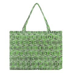 Classic Blocks,green Medium Tote Bag by MoreColorsinLife