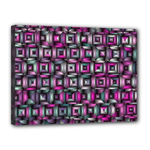 Classic Blocks,pink Combo Canvas 16  X 12  by MoreColorsinLife