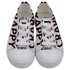 Reality Is Just A Crappy  Boring Game Kids  Low Top Canvas Sneakers