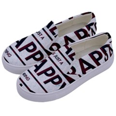 Reality Is Just A Crappy  Boring Game Kids  Canvas Slip Ons by Celenk