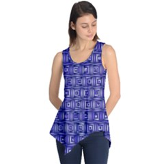 Classic Blocks,blue Sleeveless Tunic
