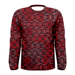 Classic Blocks,red Men s Long Sleeve Tee by MoreColorsinLife